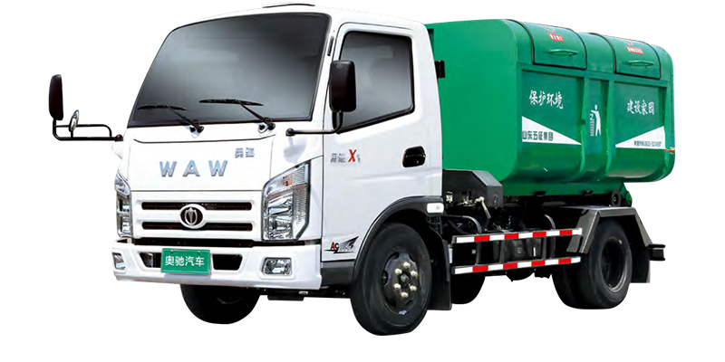 Carriage-detachable garbage truck